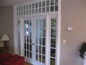 custom doors to foyer
