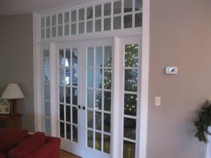 custom doors to foyer